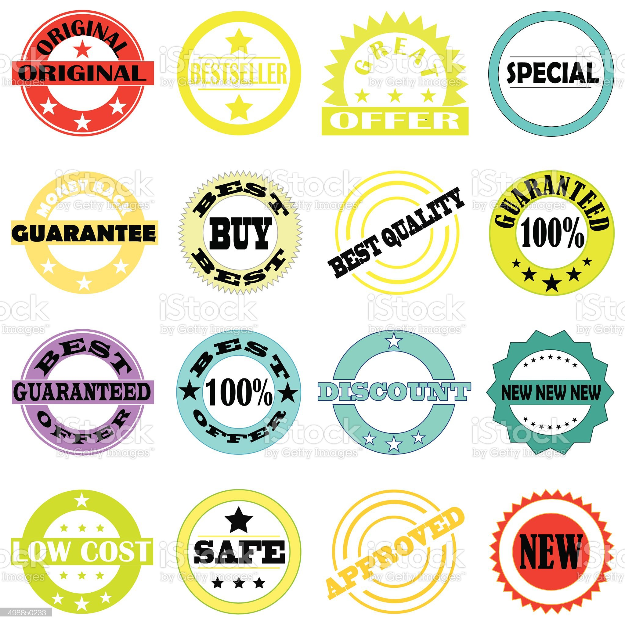 Stamps and stickers royalty-free stock vector art