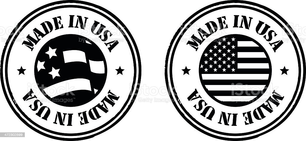 Stamps - Made in USA royalty-free stock vector art