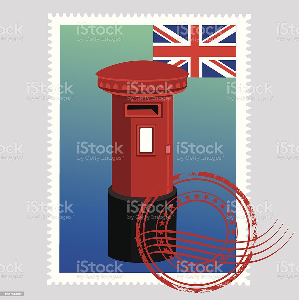 UK Stamps royalty-free stock vector art