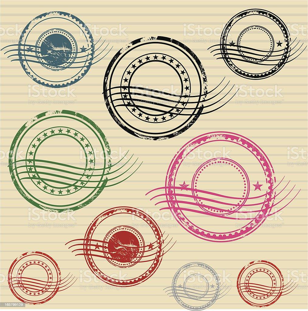 Stamps vector art illustration