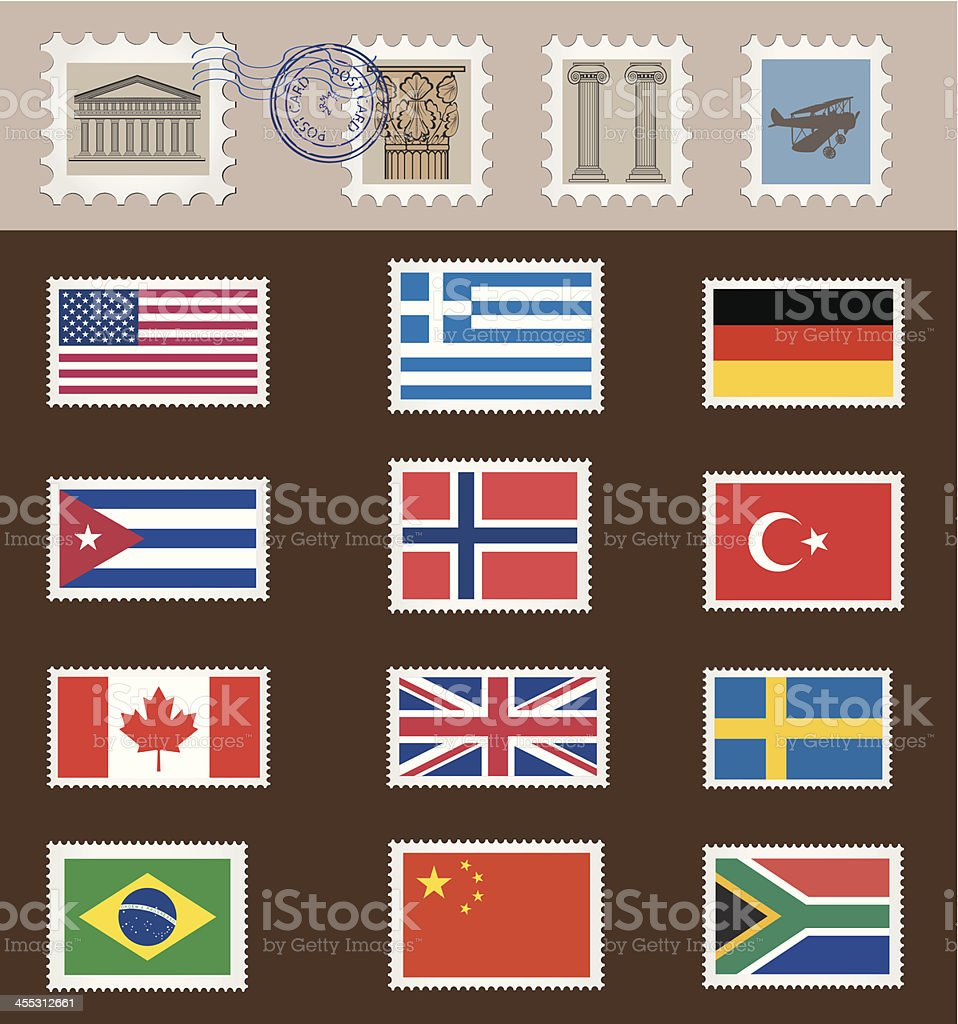 Stamps royalty-free stock vector art