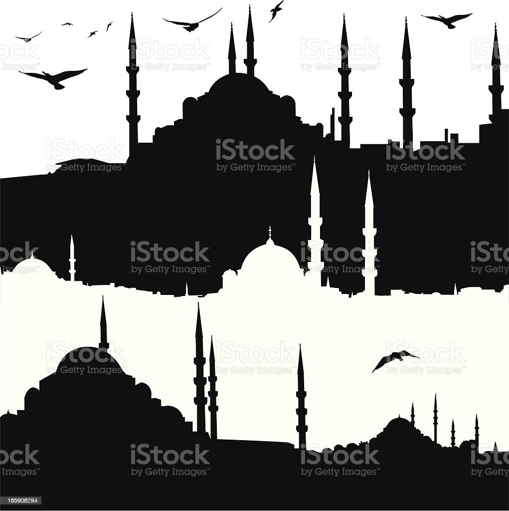 ?stanbul and Mosque royalty-free stock vector art