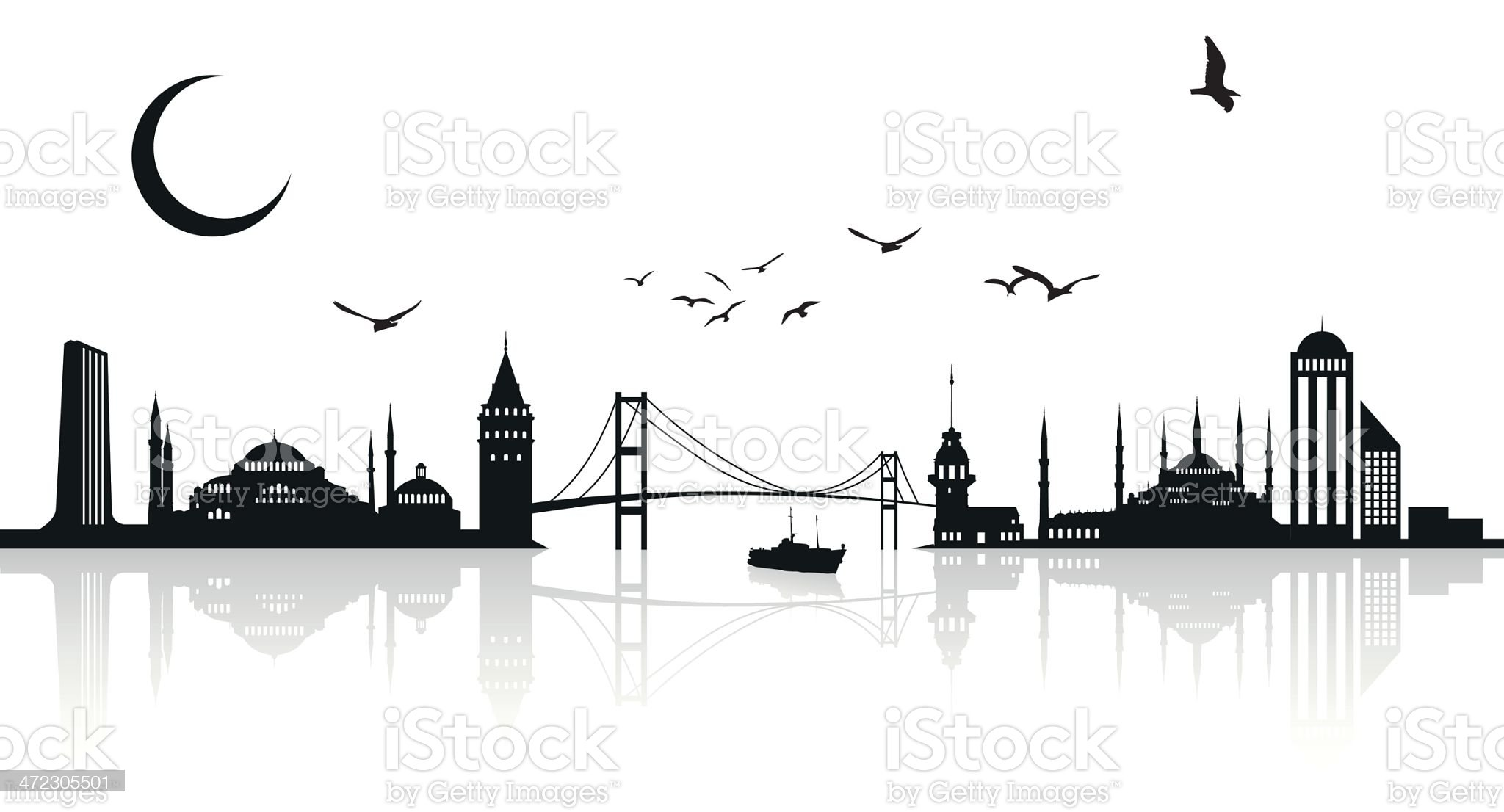 İstanbul silhouette royalty-free stock vector art