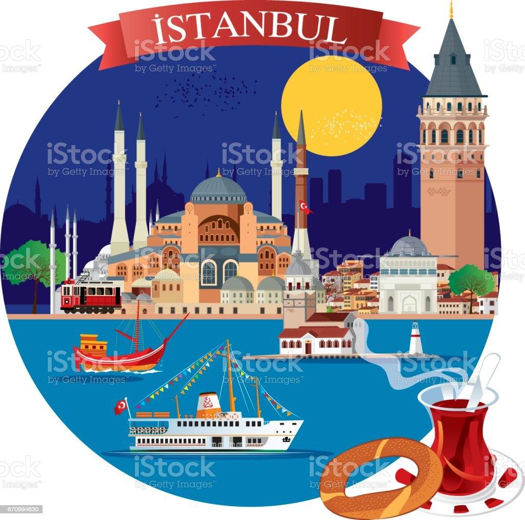 İstanbul vector art illustration