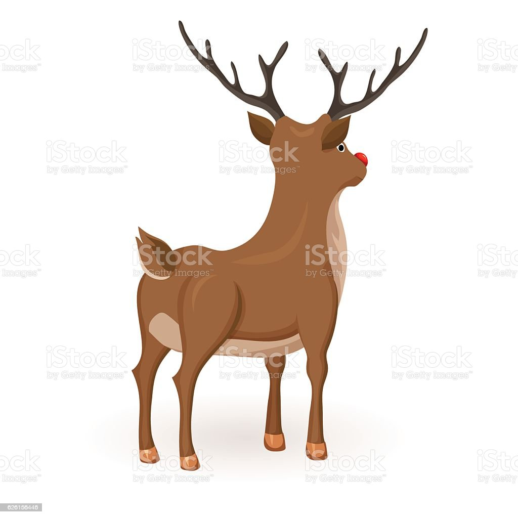 stand cartoon reindeer stock vector art 626156446 istock