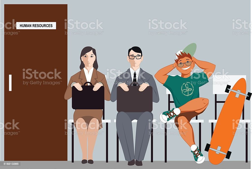 Stand out among other applicants vector art illustration