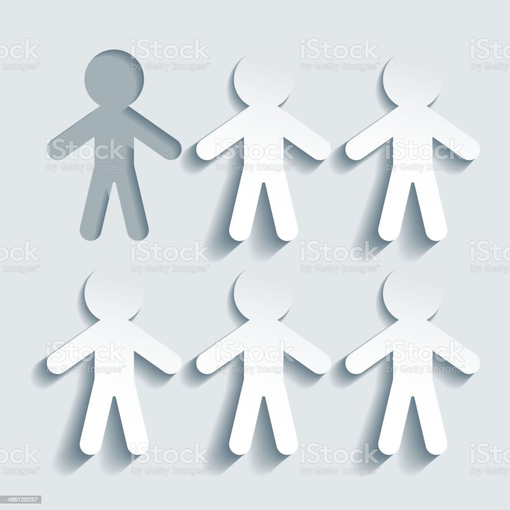 Stand out form the crowd vector art illustration