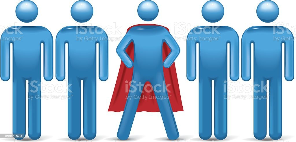 Stand Out Superhero royalty-free stock vector art