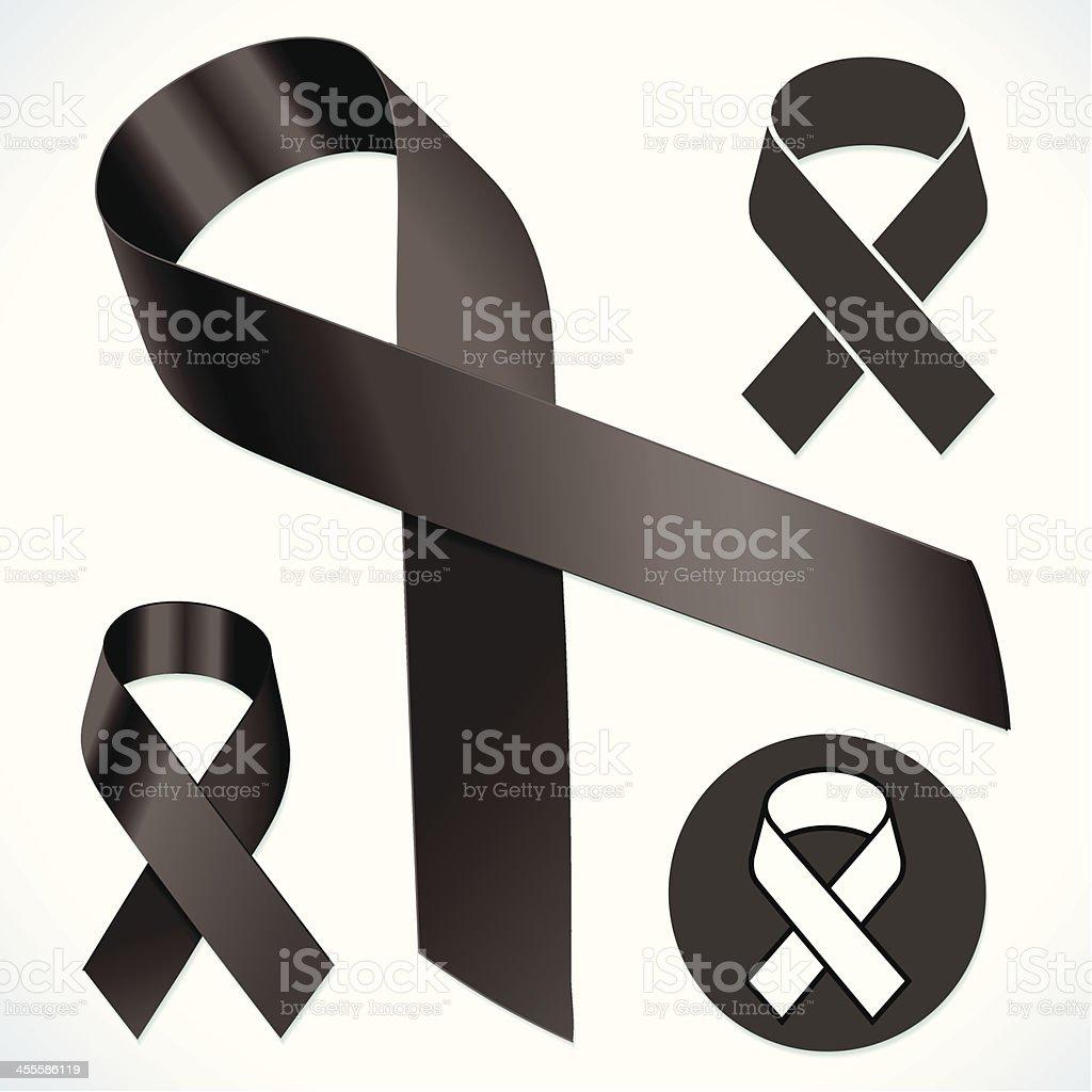 Standard Black Ribbon vector art illustration