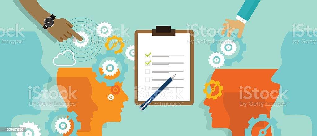 standard process business automation measure company vector art illustration