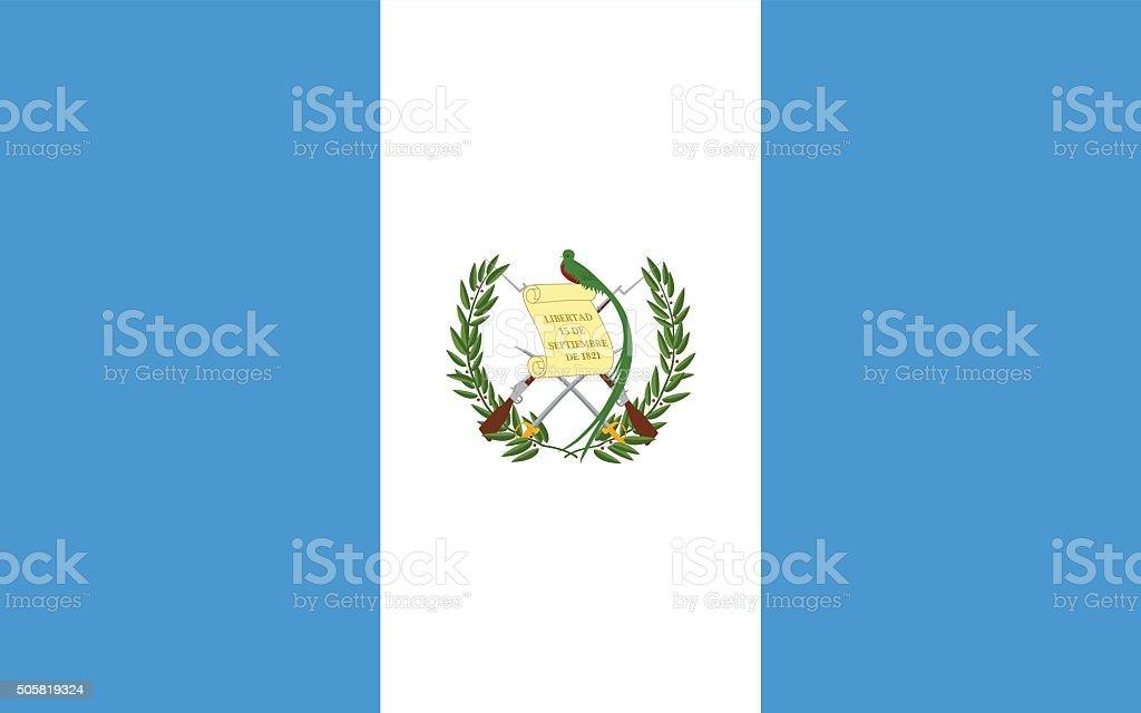 Standard Proportions for Guatemala Flag vector art illustration