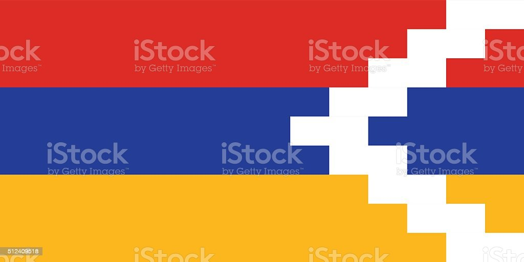 Standard Proportions for Nagorno Karabakh Flag vector art illustration