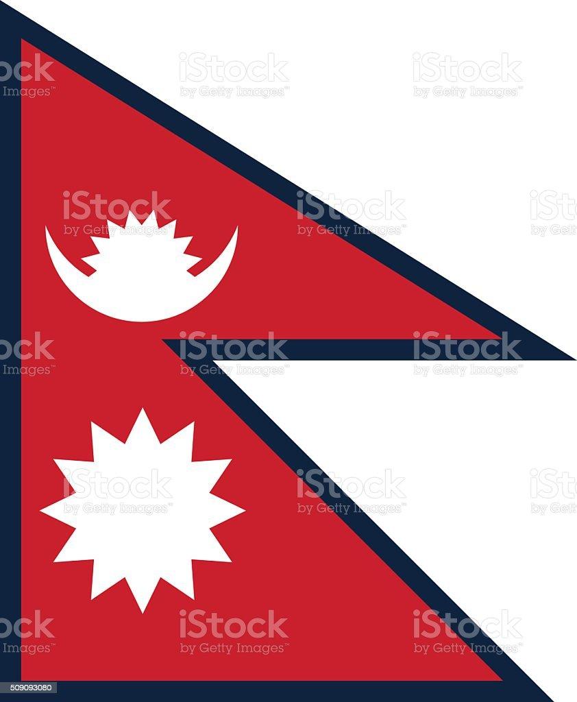 Standard Proportions for Nepal Flag vector art illustration