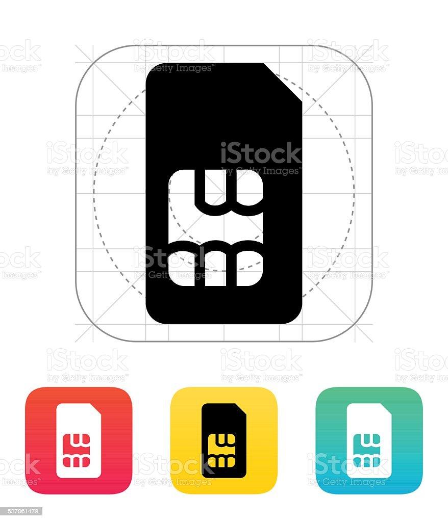 Standard SIM card icon vector art illustration