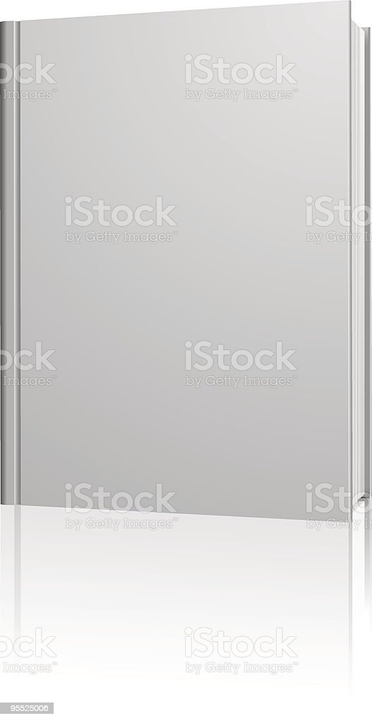Standing blank book royalty-free stock vector art