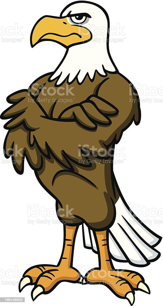 Standing Eagle royalty-free stock vector art