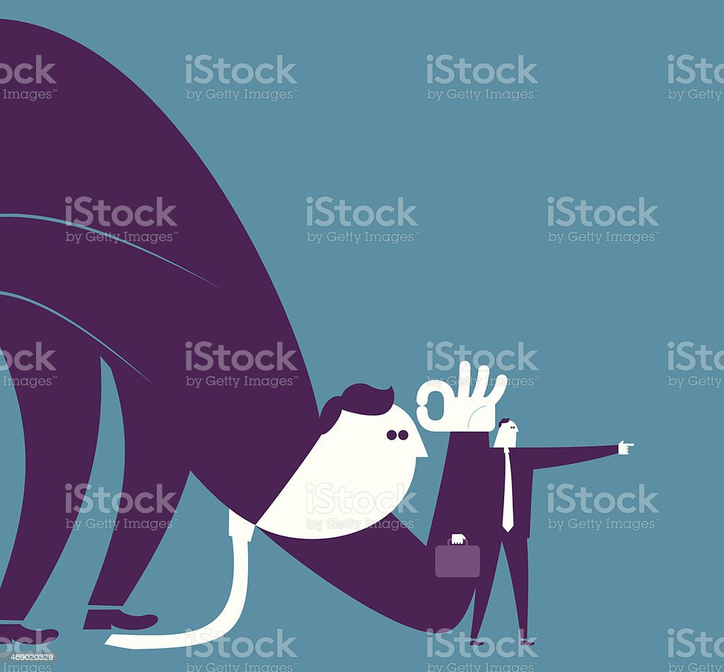Standing on the other side's position royalty-free stock vector art
