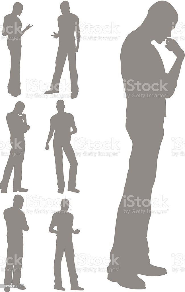 Standing Pose royalty-free stock vector art