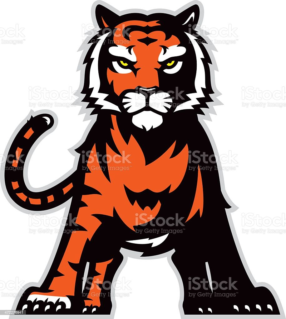 Standing tiger royalty-free stock vector art