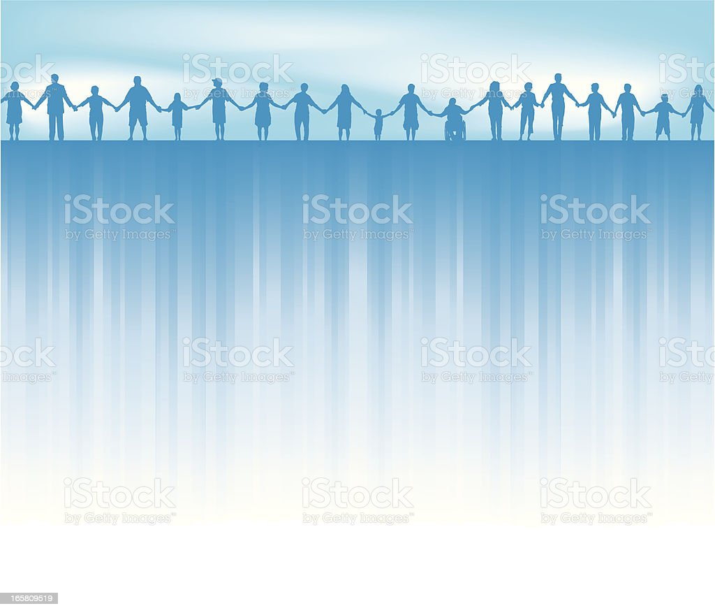 Standing Together - United Background royalty-free stock vector art