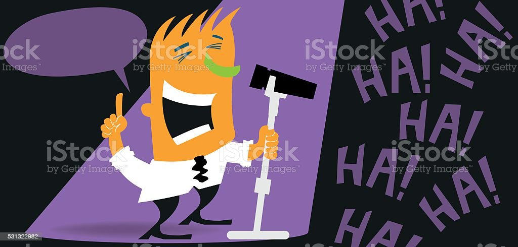 Stand-up comic vector art illustration