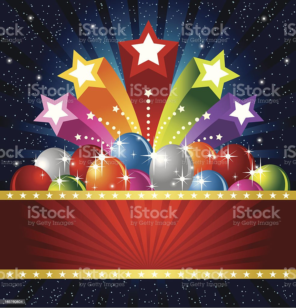 Star and Balloon Banner royalty-free stock vector art
