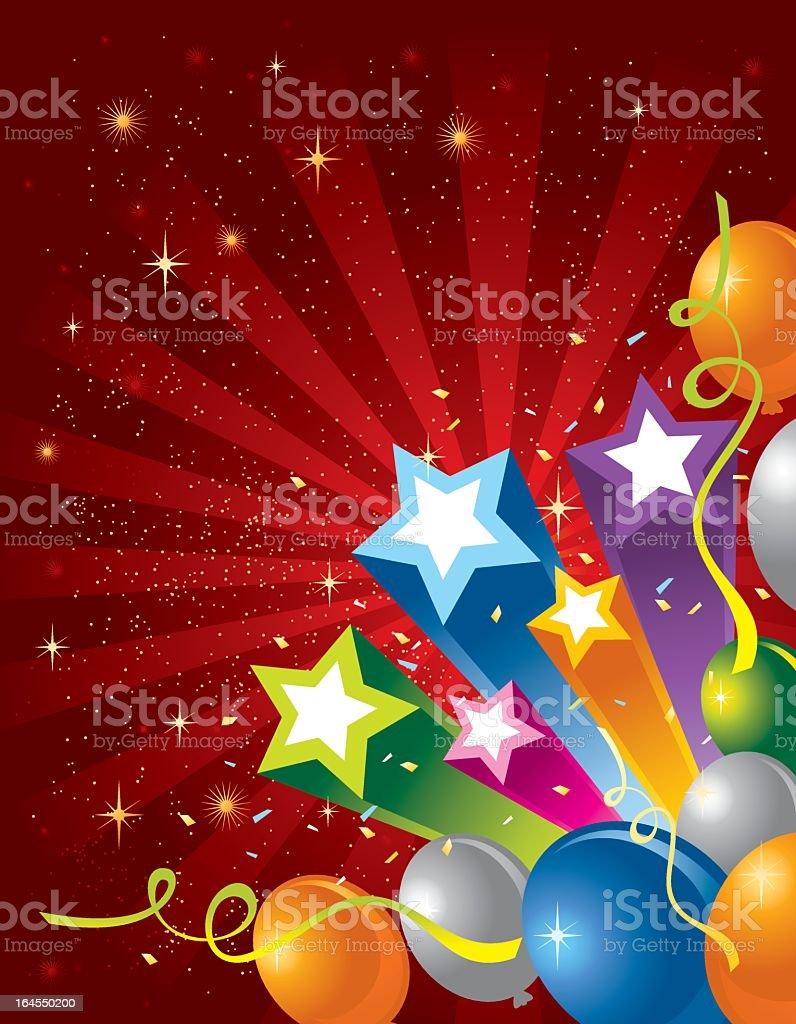 Star and Balloon royalty-free stock vector art