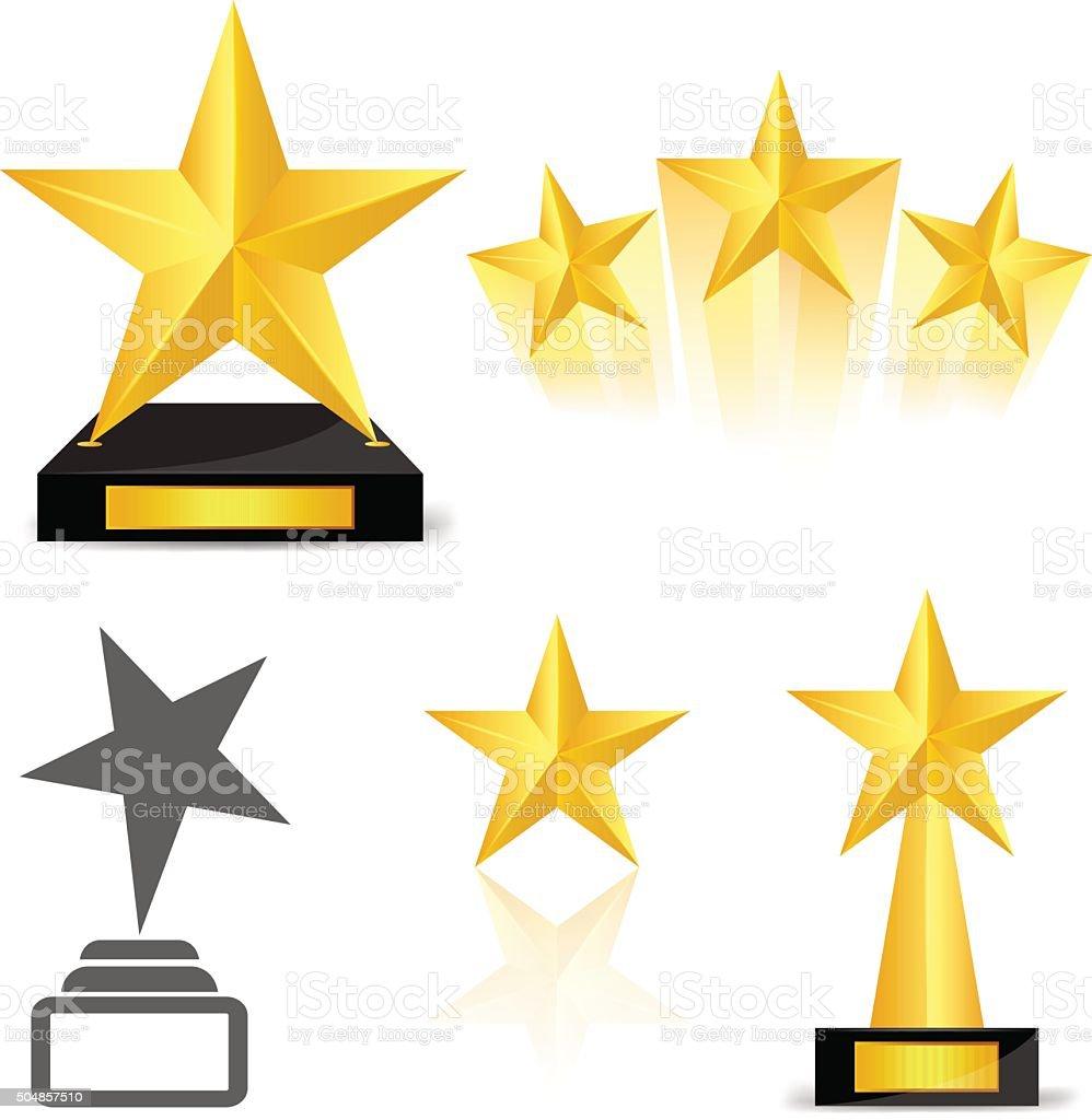 Star award vector art illustration