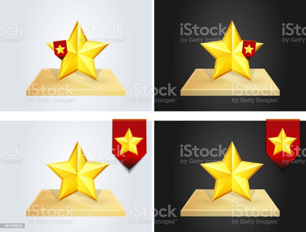 Star Badge on shelf royalty-free stock vector art
