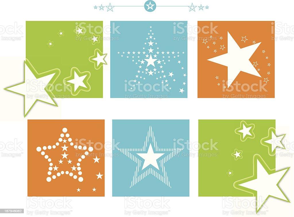 Star Banner Set royalty-free stock vector art
