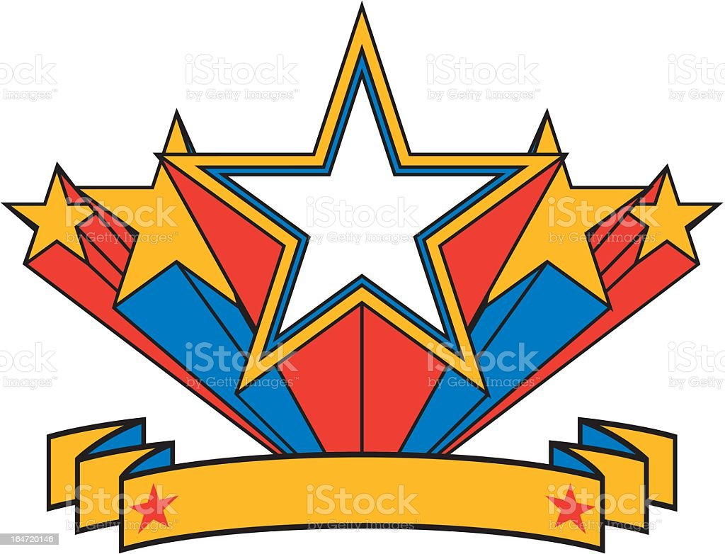 Star Banner royalty-free stock vector art