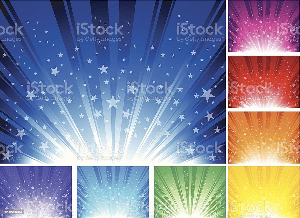 Star burst Background vector art illustration