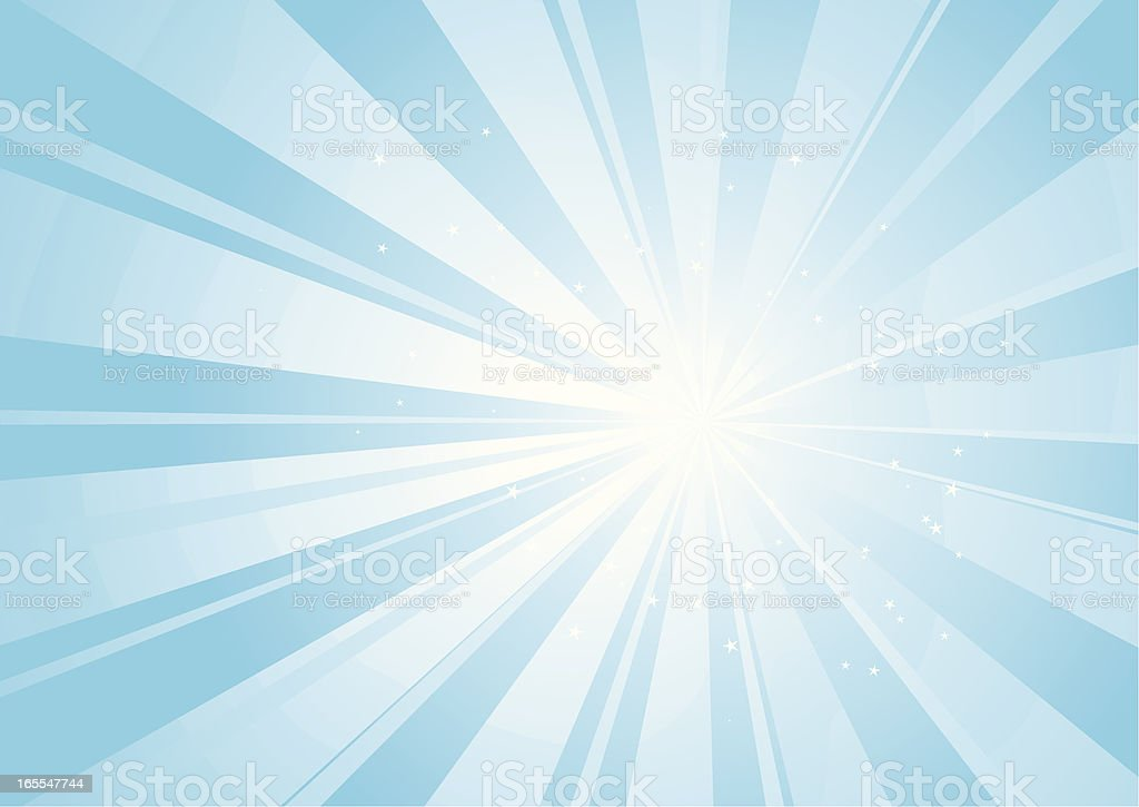Star Burst Background vector art illustration