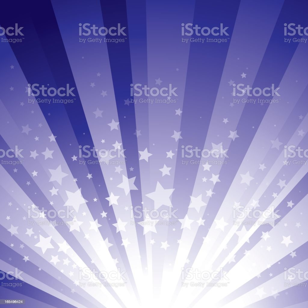 Star Burst - Purple vector art illustration