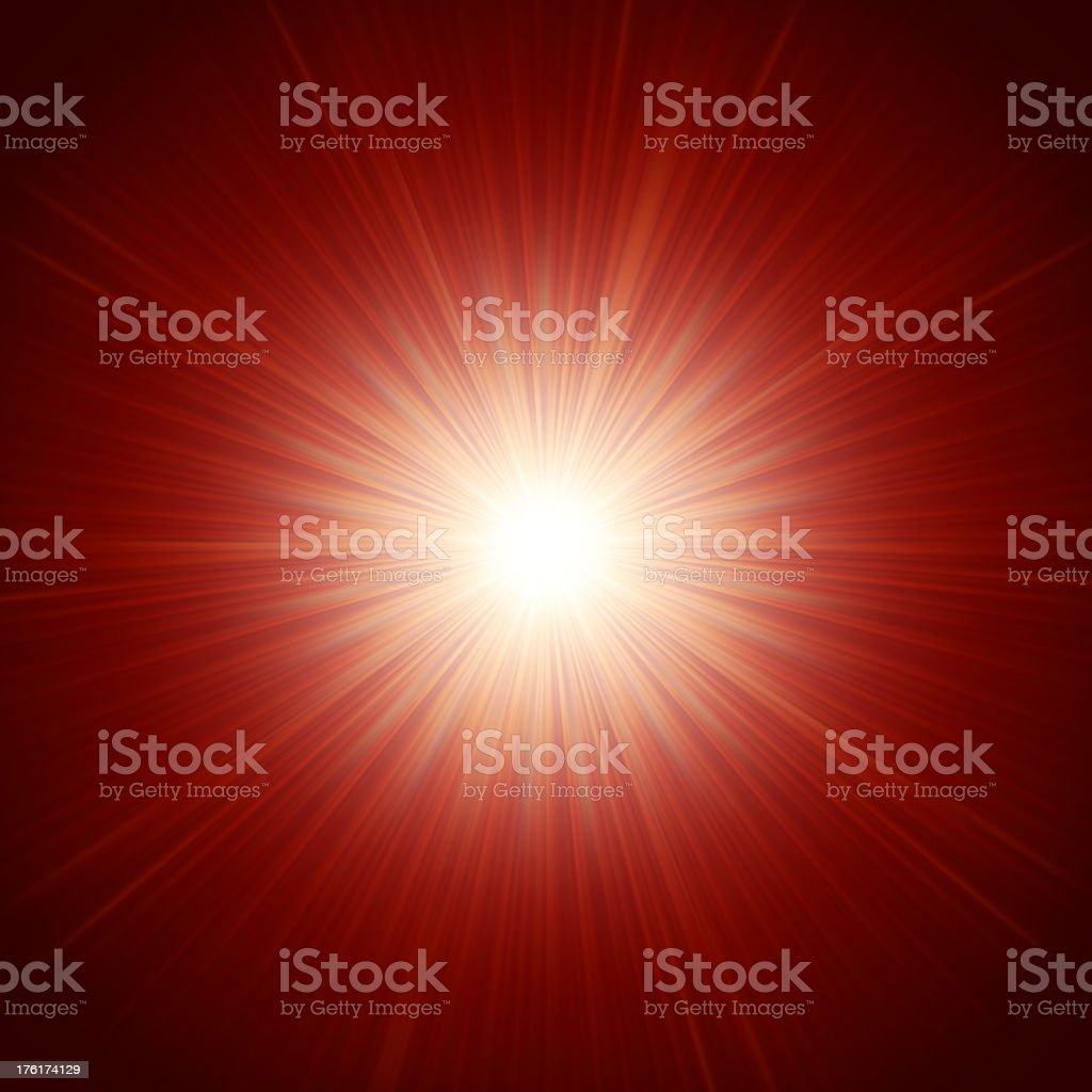 Star burst red and yellow fire. EPS 10 royalty-free stock vector art