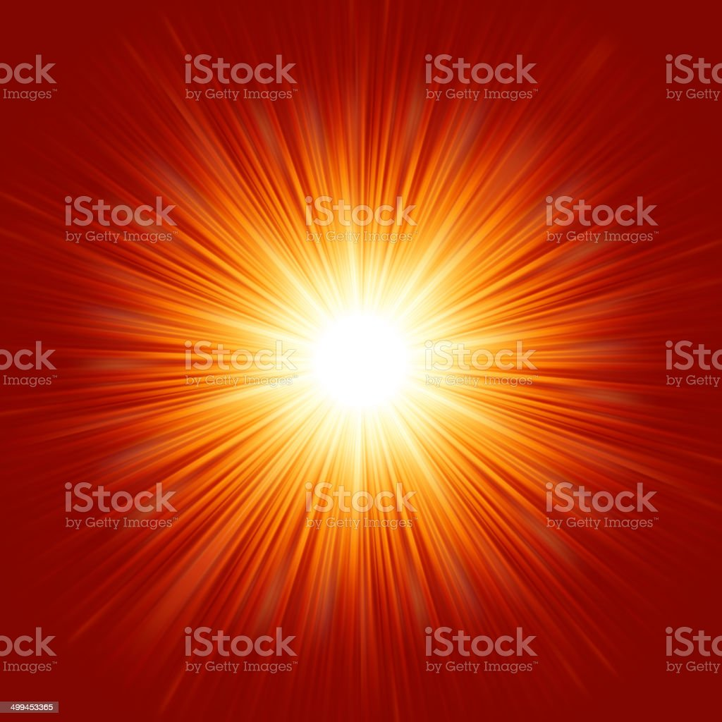 Star burst red and yellow fire. EPS 8 vector art illustration