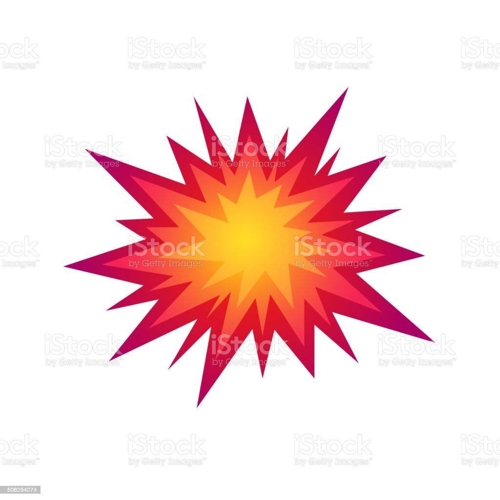 Star bursting boom.Comic book explosion. Vector illustration vector art illustration