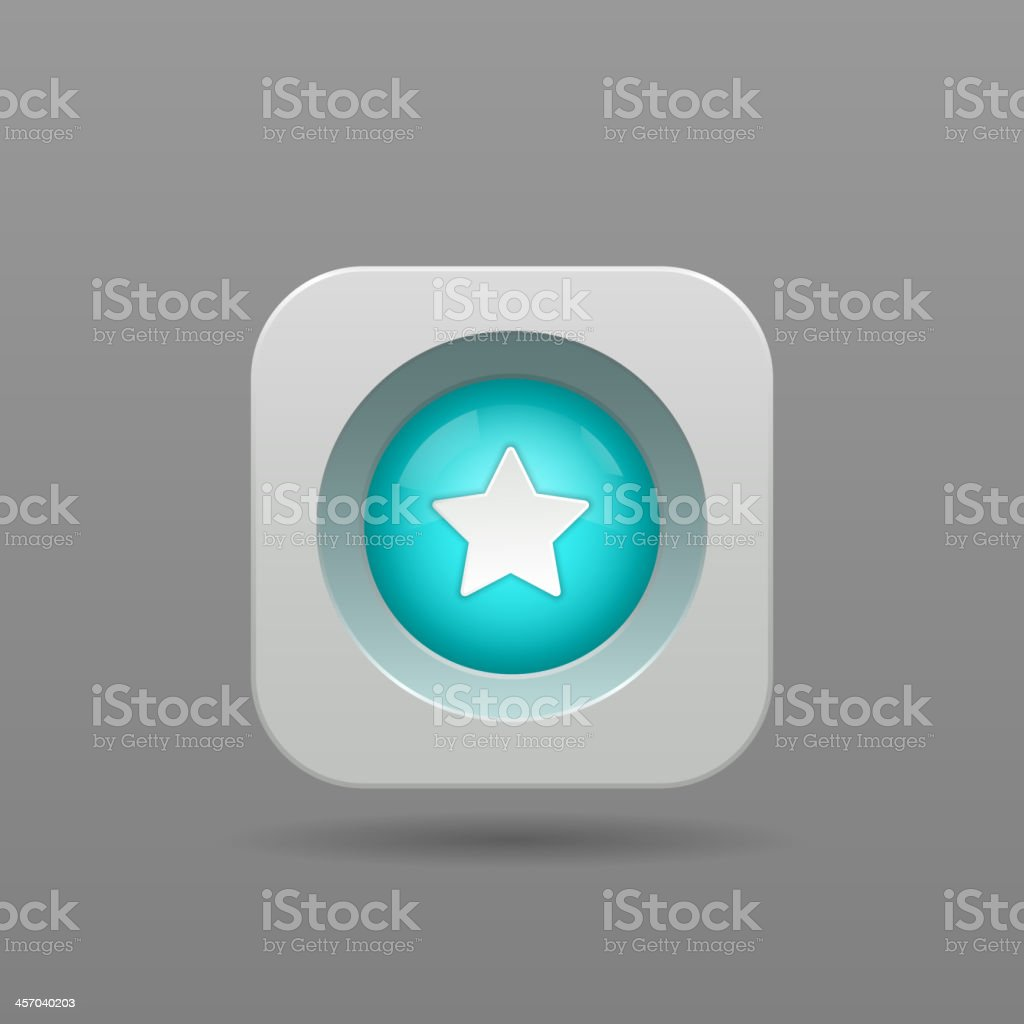 Star button royalty-free stock vector art