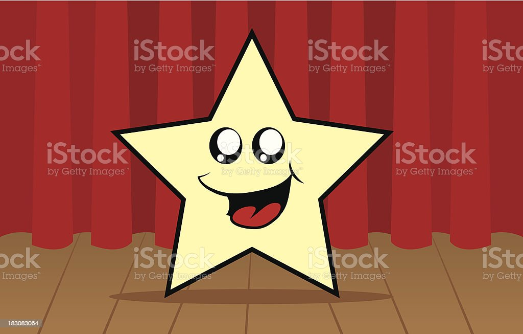 Star Character On Stage royalty-free stock vector art