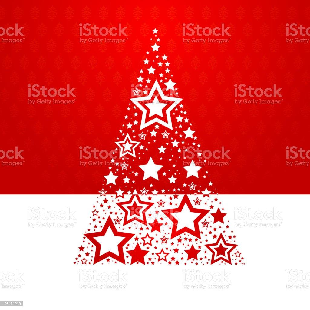 Star Christmas Tree royalty-free stock vector art