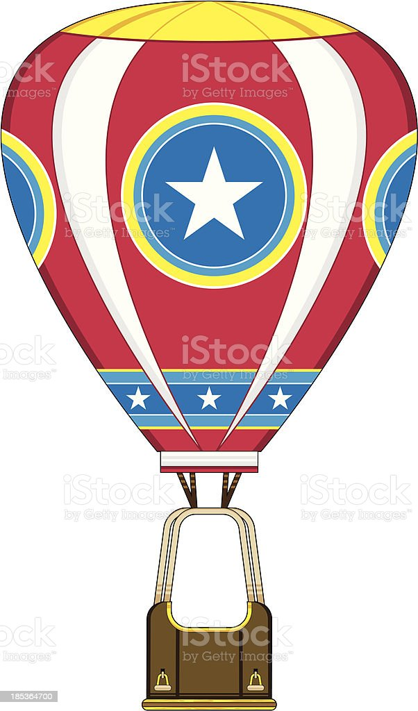 Star Design Hot Air Balloon royalty-free stock vector art