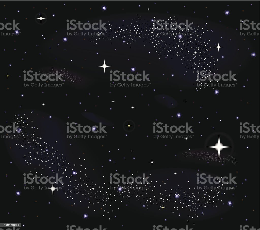 Star Field | Night Sky royalty-free stock vector art