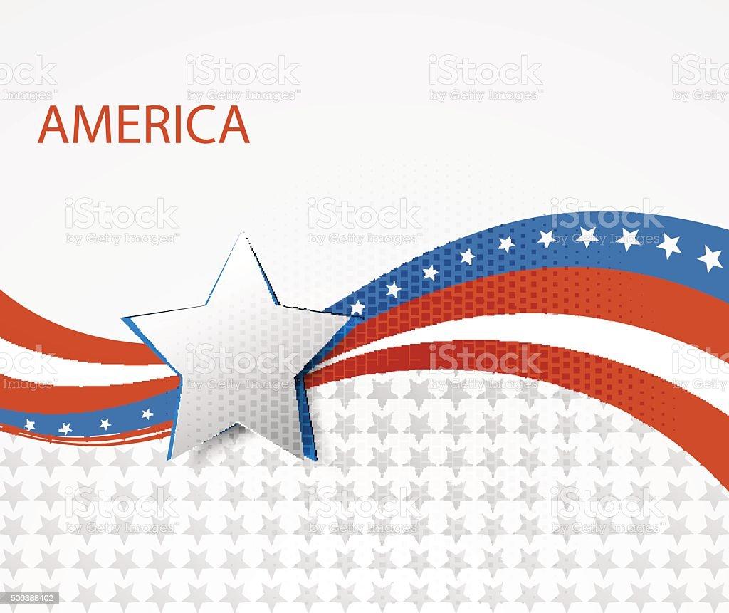 USA star flag design elements vector vector art illustration