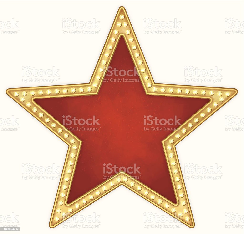 Star frame with lamps royalty-free stock vector art