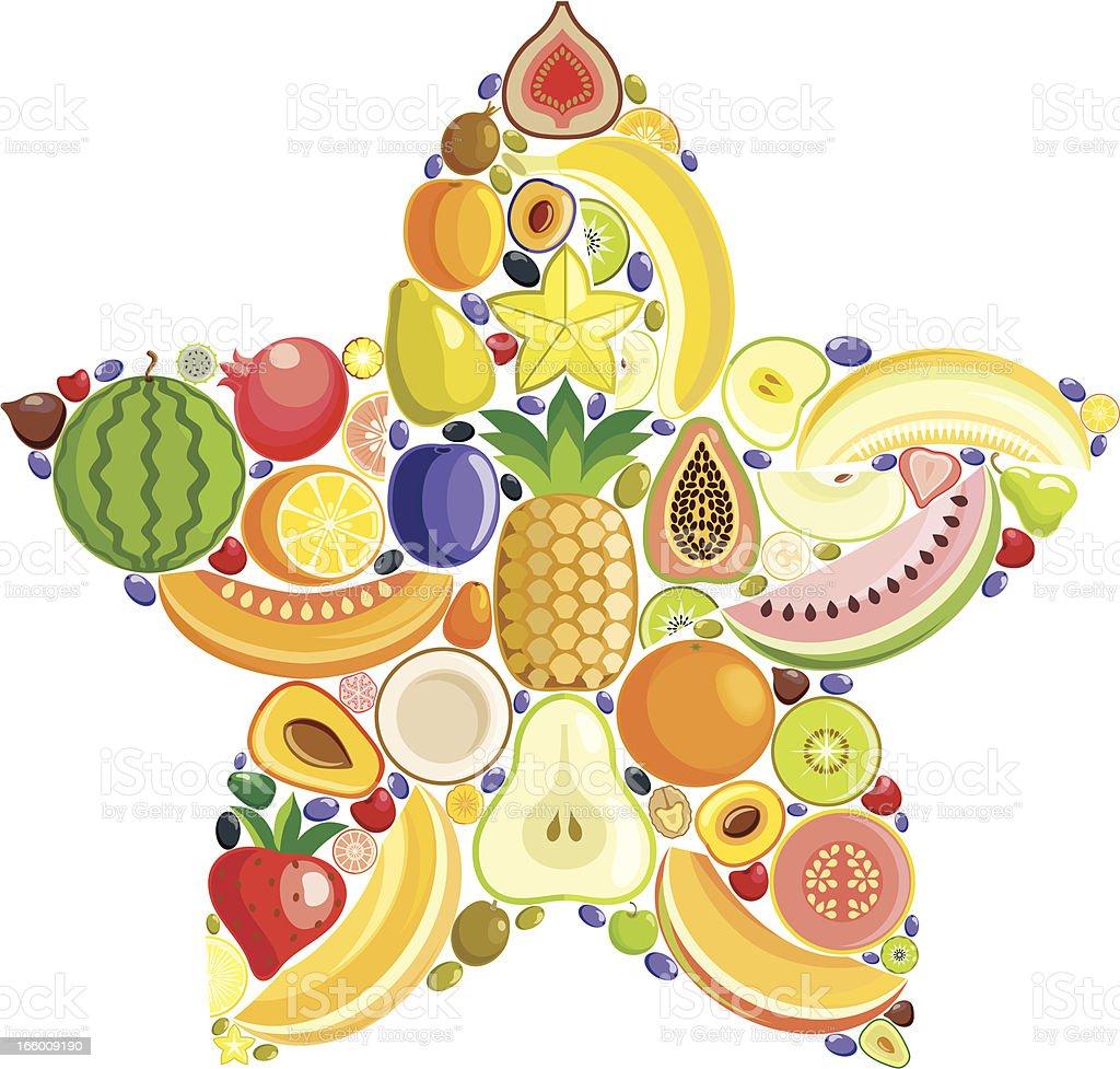 Star fruit vector art illustration