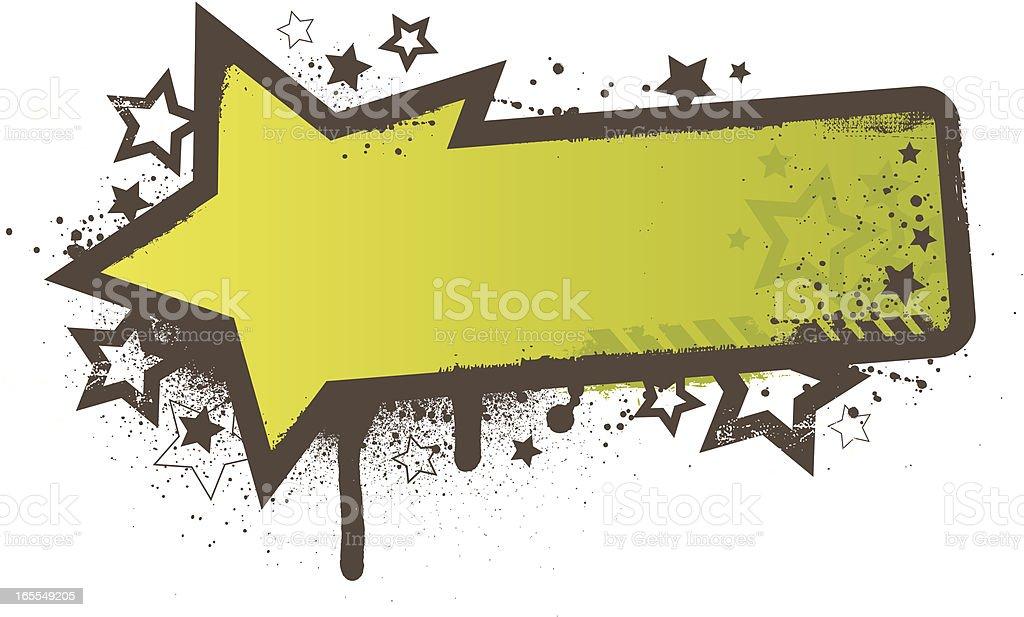 Star grunge frame green royalty-free stock vector art
