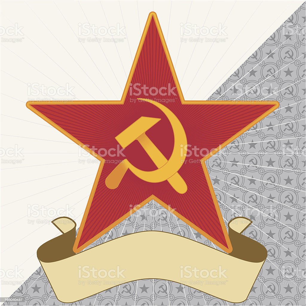 Star, Hammer and Sickle royalty-free stock vector art