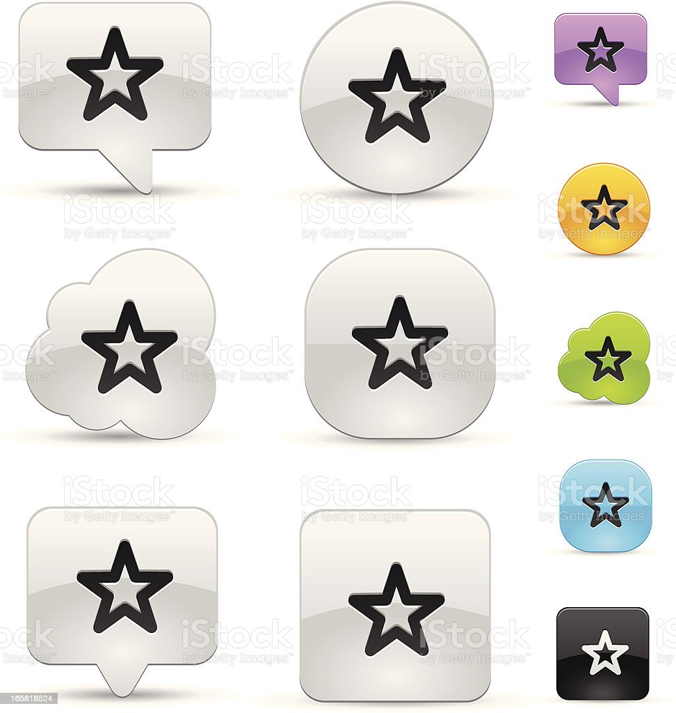 Star icon set royalty-free stock vector art
