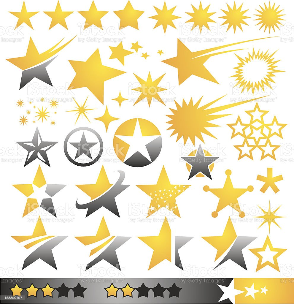 Star icons and logo concepts collection vector art illustration