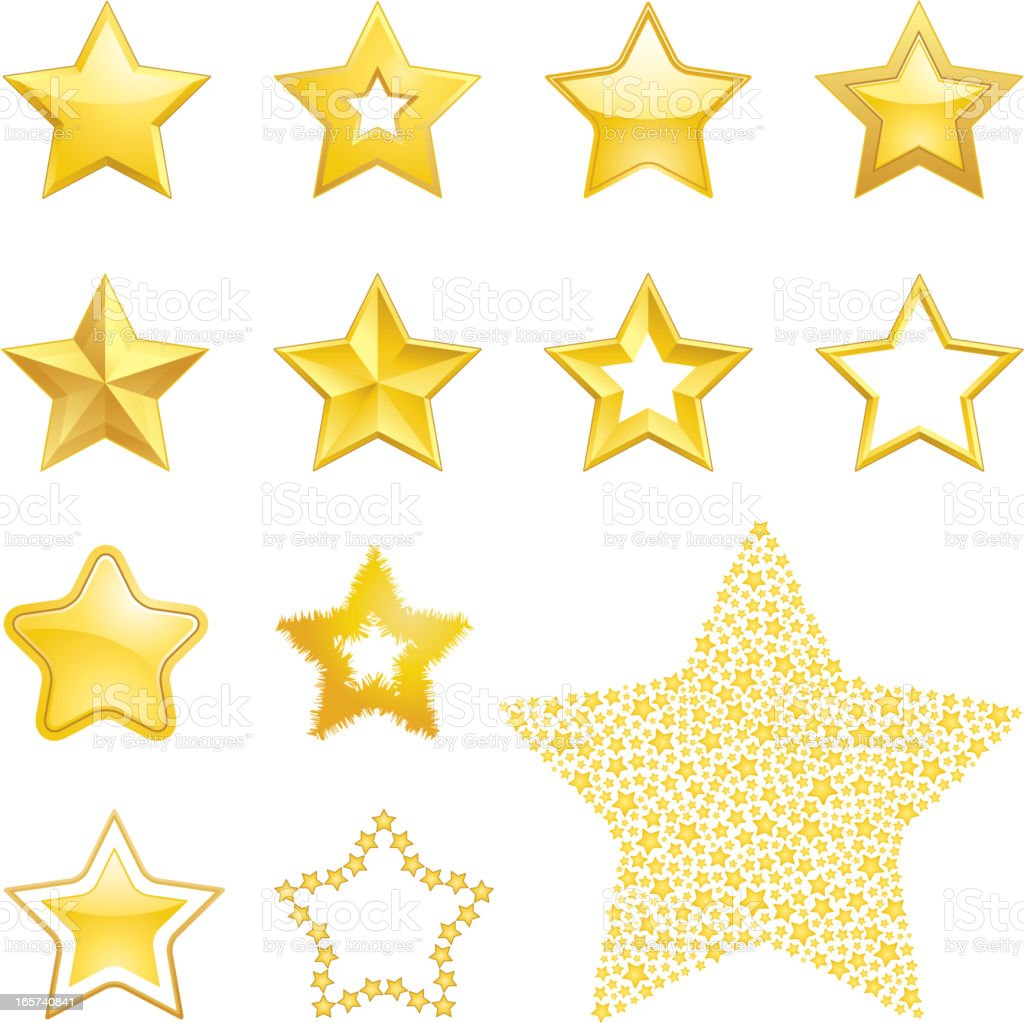 Star icons vector art illustration